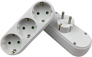1 bis 3 Buchse Adapter Konverter Outlet Portable 3 Buchse 16A 250V EU Stecker