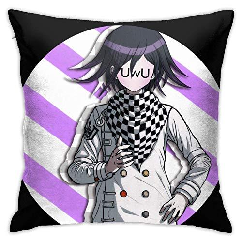 N \ B Danganronpa-Kokichi Ouma federa quadrata abbraccio cuscino morbido soggiorno decorazione divano federa 45,7 x 45,7 cm
