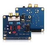 Mxzzand 120dB SNR with Gold-Plated 3.5 mm Jack Socket I2S Interface PiFi DIGI DAC HiFi DIGI Digital Audio Card for Raspberry PI 3 Model B / 2B / B