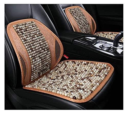 2pcs Ventilación de verano Respaldo cómodo transpirable, soporte trasero para sillas de automóviles, enfriamiento transpirable con cuentas  Asiento de coche cubierta ( Color : B , Size : 2PCS )