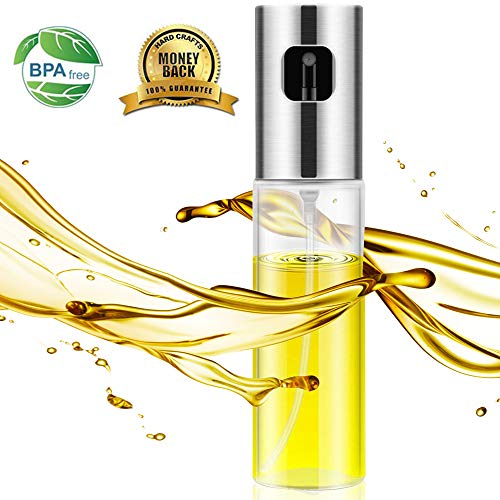 Olive Oil Sprayer, Oil Spray for Cooking ,100ml Spray Bottle Oil Dispenser Mister for Cooking, BBQ, Salad, Baking, Roasting, Grilling