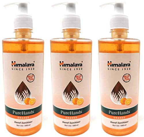 Himalaya PureHands Hand Sanitizer Orange – 500ml (Pack of 3)