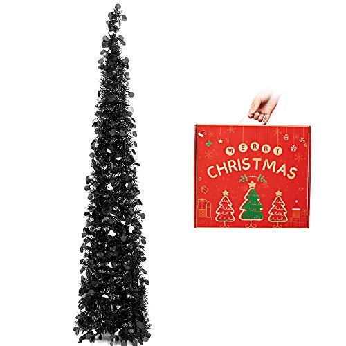 N&T NIETING 5ft Tinsel Halloween Christmas Tree