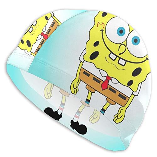 Cuffia da Nuoto Spongebob Quadrata, per Donne e Uomini, Capelli Lunghi e Corti