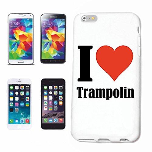 Bandenmarkt telefoonhoes compatibel met iPhone 7+ Plus I Love Trampoline hardcase beschermhoes mobiele telefoon cover Smart Cover