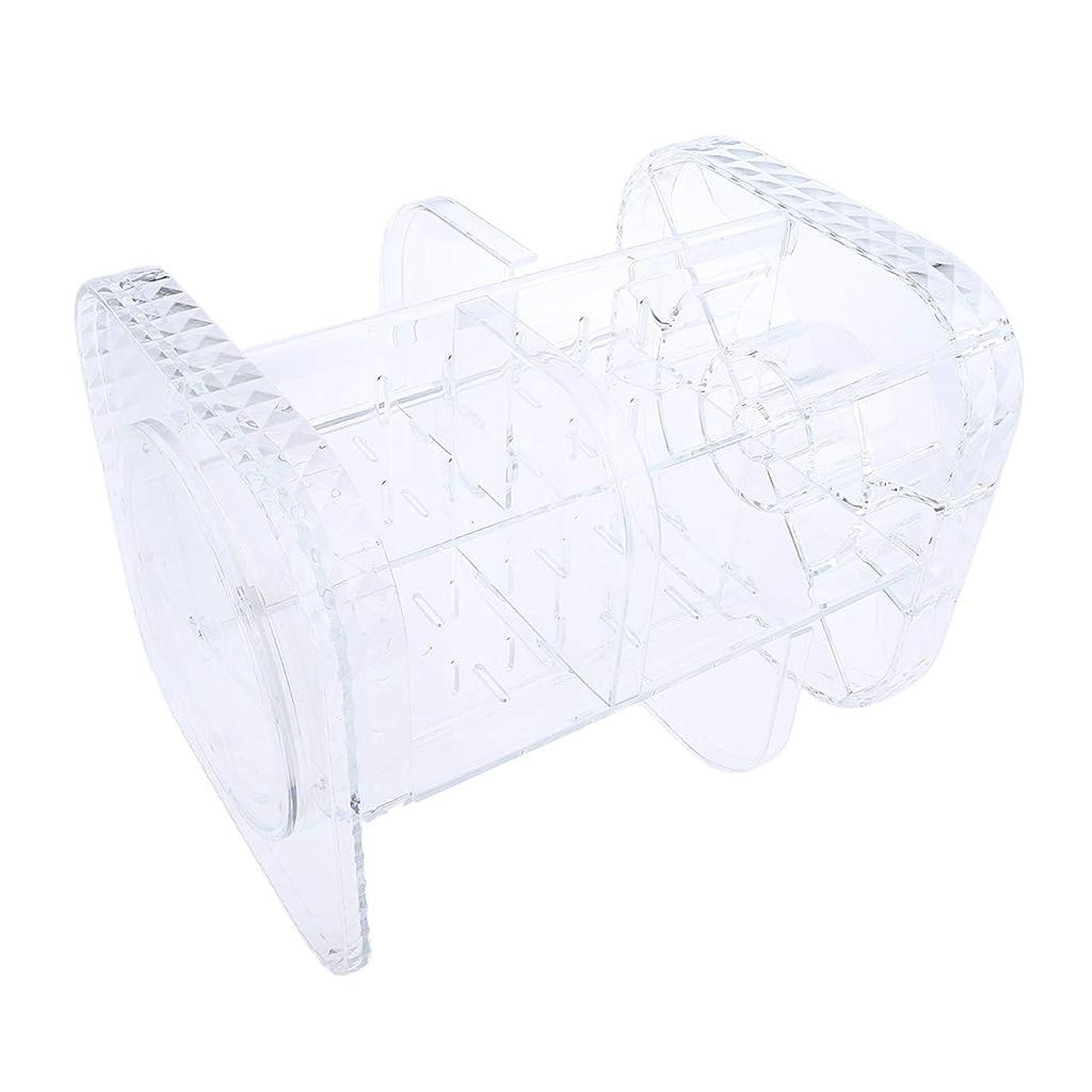 ピボット対人スイス人F Fityle メイクアップ 化粧品オーガナイザー 化粧ブラシ ホルダー 貯蔵容器 ボックス 化粧ケース