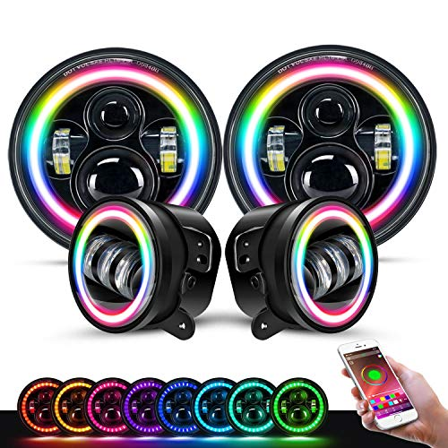 DOT Approved 7 Inch LED RGB Headlight,7¡± Round...
