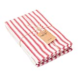 Candy Cottons 100% Pure Cotton Dinner Napkins, Red &...