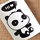 QTDS Aufkleber Wechseln Panda DIY Schalter Aufkleber Kunststoff Wandaufkleber Vinyl Wandbild Dekor Cartoon Abziehbilder Dekoration Aufkleber Schalter -