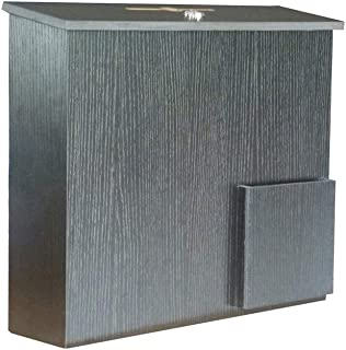 FixtureDisplays Wood Collection Box Suggestion Box Donation Charity Box Fundraising Box 1040-85-BLK 1040-85-BLK