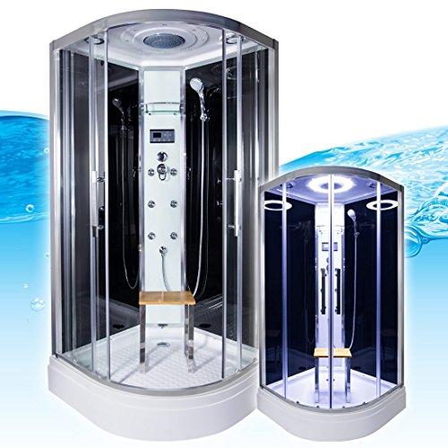 AcquaVapore QUICK26-0302 Dusche Dampfdusche Komplette Duschkabine 80x80, EasyClean Versiegelung:OHNE 2K Scheiben Versiegelung