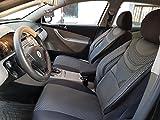 seatcovers by k-maniac V633955 - Fundas de Asiento para Opel Astra H, universales, Color Negro y Gris