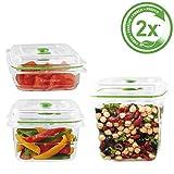 FoodSaver FFC020X-01 Lot de 3 Boîtes fraicheur pour Appareil de mise sous vide...