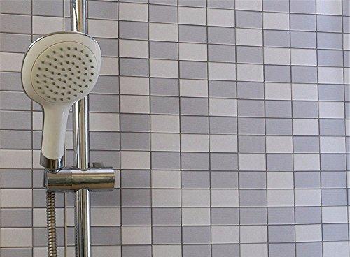 Tapete Selbstklebende Wasserdichte Toilette dekorative Aufkleber Fliese Paste Verdickung Mosaik Tapete Bad Badezimmer Wandaufkleber, 200 * 60 cm, G