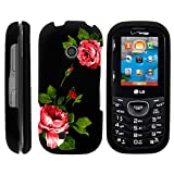 MINITURTLE Compatible with LG Cosmos 3 Case, Slim Fit Snap On Cover w/Unique, Customized Design - Affectionate Flowers