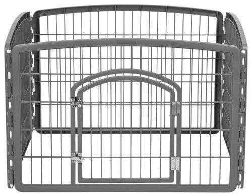 IRIS USA 24'' Exercise 4-Panel Pet Playpen with Door, Dark Gray CI-604 20% AmazonPets Brands breed by Cat Dog Food for from IRIS items love Off Pet Playpens Popular products Profile Promotion Pugs Savings Selection Selections Supplies to Top up we