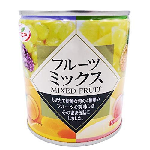 フルーツミックス 缶詰 312g×24缶 白桃、黄桃、パイナップル、ぶどうのミックスフルーツ缶 フルーツポンチ 業務用 まとめ買い