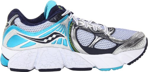 Saucony Lunareclipse 4, Chaussures de Running pour Homme Gris Blanc/Bleu Marine - - White/Blue/Navy,...