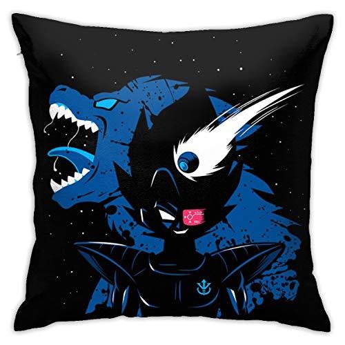 HONGYANW Vegeta Ozaru Saiyan Dragon Ball Z Funda de almohada, impresión de doble cara, funda de almohada con cremallera oculta, hermosa funda de almohada con patrón impreso de 45,7 x 45,7 cm