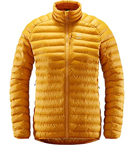 Haglöfs Winterjacke Frauen Daunenjacke Essens Mimic Wärmend, Atmungsaktiv, Wasserabweisend Desert Yellow L L