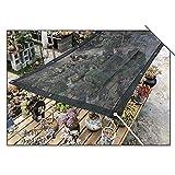 Coool Negro Sol Velas de Sombra HDPE Respirable Proteger Intemperie Jardín Suculentas Balcón Plantas Terraza 70% Bloqueador Solar Malla Red, Personalizar-1x1m