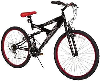 """Dynacraft para Hombre 26"""" 21Velocidad de Equator Bicicleta, 45.7cm/Talla única, Negro y Rojo"""