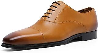 Kirabon Zapatos de Cuero, Zapatos de Hombre, Zapatos de Negocios. (Color : Amarillo, Size : 44)