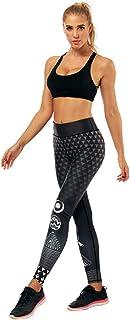 Makalon Damen Sexy Ultraweich Atmungsaktiv Leicht Hohe Taille Strecken Bauchkontrolle Sportlich Blumenmuster Yoga Hose Frauen Freizeit Fitness Joggen Elastisch Dünn Leggings Tights