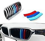Muchkey Per 3 serie F30 F31 F35(11 griglie) Rene griglia radiatore 3D m styling griglia anteriore Insert Trim Motorsport strisce griglia di performance adesivi