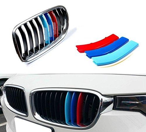 3D MotorSport Auto Frontgrill Einsatz Trim Streifen Grill Abdeckung Dekoration Aufkleber Für F30 F31 F35 11 Bar