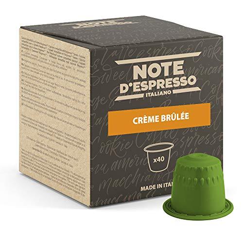 Note d'Espresso Italiano - Cápsulas de bebida de crème brûlée, Compatible con cafeteras Nespresso, 40 unidades de 6 g