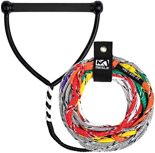 MESLE Wasserski-Leine Pro Slalom 75' 8-Loop, Slalom-Leine, Länge 10,75 m - 23 m, 8 Sektionen, 12'' Gummi-Hantel, mit Rope Keeper