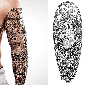 kraken sleeve tattoo