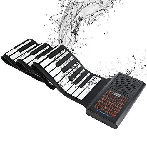 Hami 88 Keys Roll-up Piano Portable Electronic Piano for Kids,PT88 Flexible Kid's Foldable Roll Up Educational Electronic Digital Music Piano Keyboard with Recording