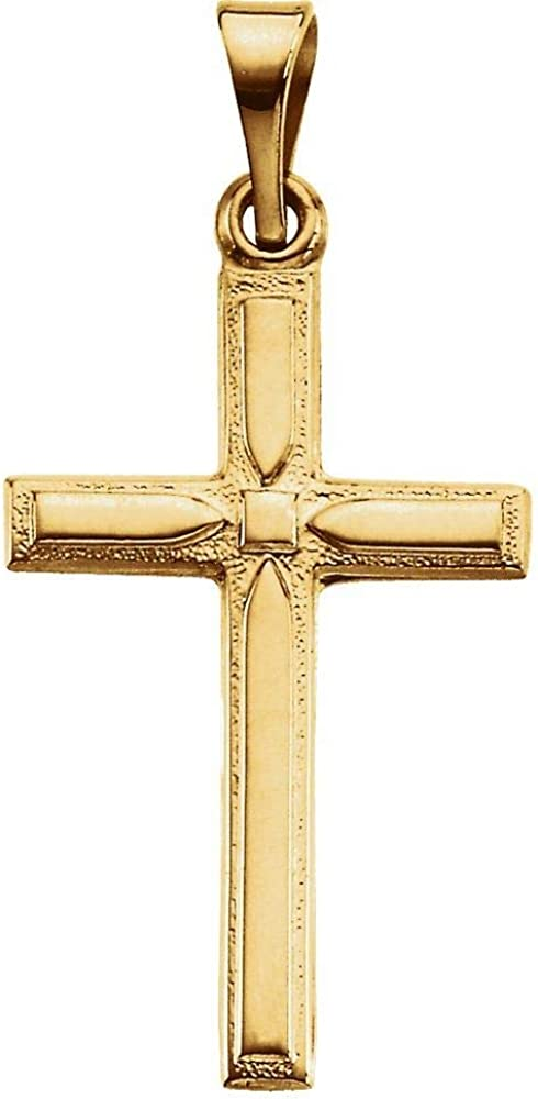 14k Super sale Yellow Gold Albuquerque Mall Pendant Necklace Cross