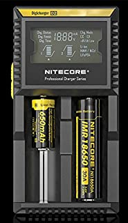 Nitecore D2 EU Battery Two Bays Charger with LCD Display