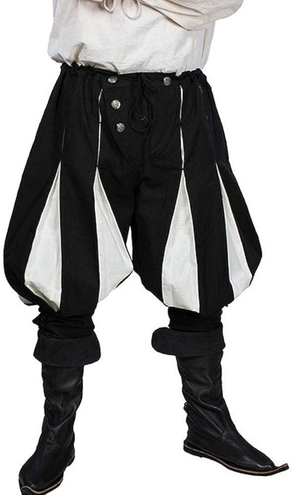 MoneRffi Mens Medieval Loose Stage Costume 3//4 Trousers Pants