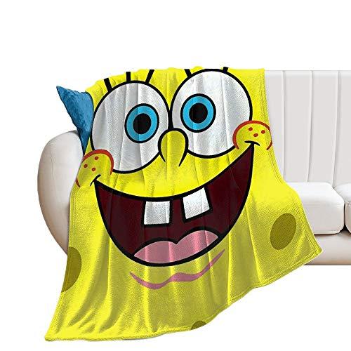 Custom made Manta de Bob Esponja suave y transpirable, manta para cochecito de bebé y cuna, perfecta para cama doble, universal, 150 x 130 cm