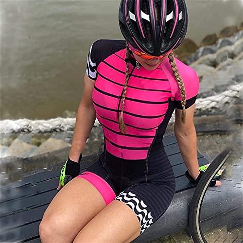 Damen Kurzarm Radtrikot Atmungsaktives Einteiler Body Suit Rennrad Radfahren Kit und Mountainbike