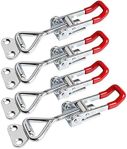 DZYDZR 4 Stück Einstellbare Kniehebelspanner 100kg/220lbs Schlösser Verriegelung für Schränke, Türen, Kisten, Koffer
