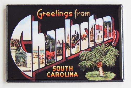 Greetings From Charleston South Carolina Fridge Magnet (2 x 3 inches)
