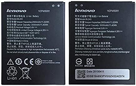 BL243 Battery For lenovo Lemon K3 Note K50-T5 A7000 A5500 A5600 A7600