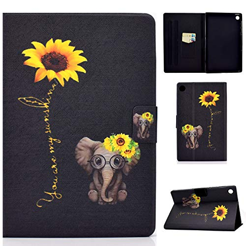 Tedtik Case for Lenovo M10 Plus 10.3' Case Smart Folio Cover with Stand Function Case for Lenovo Tab M10 FHD Plus TB-X606F 10.3-Elephant