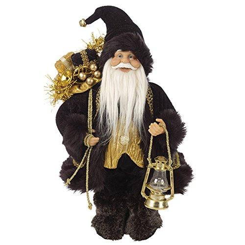 The Christmas Workshop 87710 Debout - 30 cm-Figurine-Manteau de Père Noël pour Chien Noir