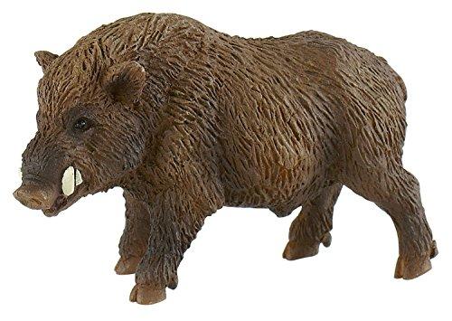 Bullyland 64446 - Spielfigur, Wildschwein, ca. 8,5 cm, ideal als Torten-Figur, detailgetreu, PVC-frei, tolles Geschenk für Kinder zum fantasievollen Spielen