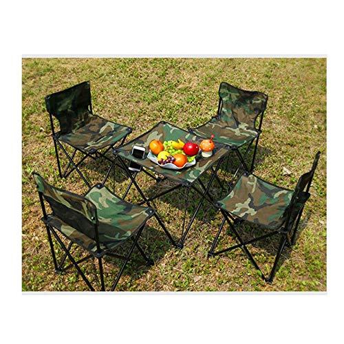 Tisch- und Stuhlset im Freien Picknicktisch und Stuhl im Freien, tragbarer Grill Campingstuhl, tragbarer Tisch und Stuhl mit Selbstfahrer, Klapptisch und Stuhl-Set