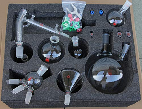 Short Path Distillation Glassware Kit 5L with Cold Trap Post by FedEx
