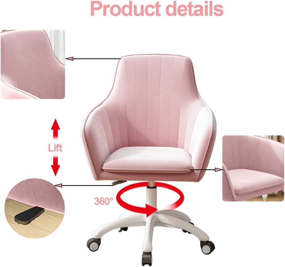 Chaise pivotante en Velours, Fauteuil rembourré Moderne, Tabouret de Travail pivotant réglable dans Le Salon/Chambre à Coucher, décoration de la Maison Gray