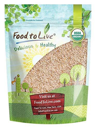 Organic Whole Wheat Bread Flour, 8 Ounces - Whole Grain, Stone Ground, Unbleached, Non-GMO, Kosher, Unbromated, Raw, Vegan, Bulk, Product of the USA