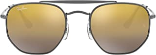 Ray-Ban RB3648 Marshall Aviator Sunglasses, Gunmetal / Brown Gradient Mirror, 51 mm, Non-Polarized